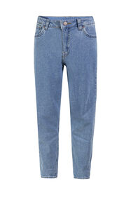 Meisjes high rise mom fit jeans_Meisjes high rise mom fit jeans, Lichtblauw