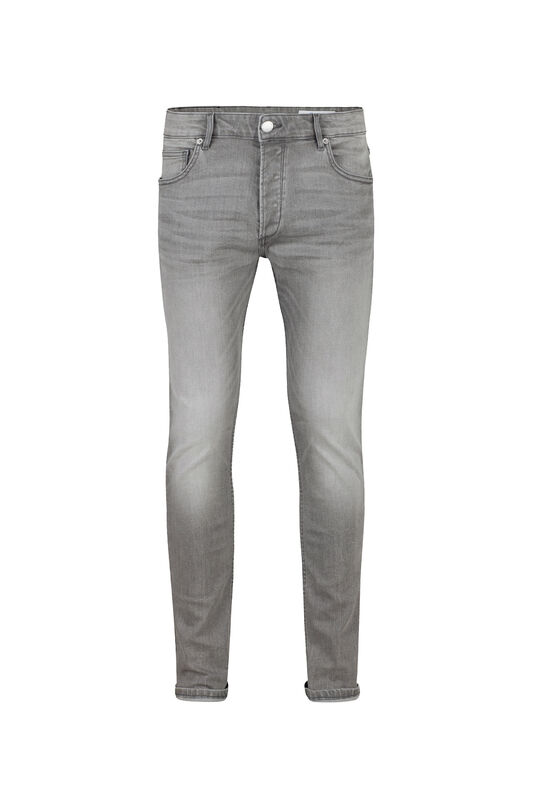 Heren slim fit comfort stretch jeans Lichtgrijs