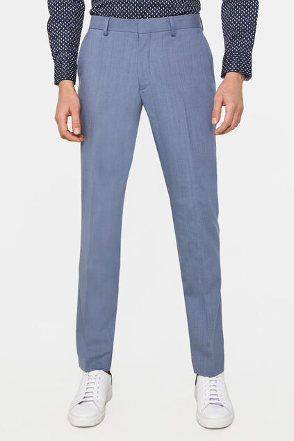 Heren slim fit pantalon Dali met stretch IJsblauw