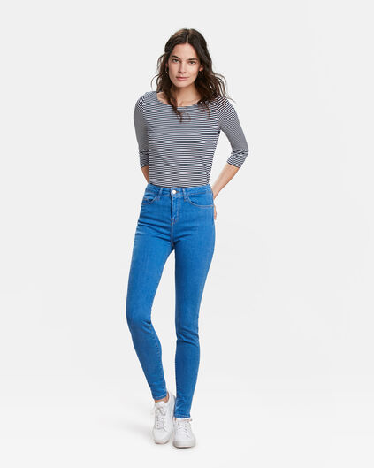 DAMES HIGH RISE SKINNY HIGH STRETCH JEANS Felblauw