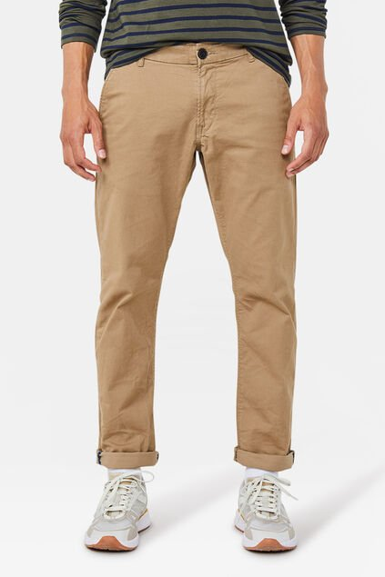 Heren slim tapered chino Beige