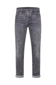Heren skinny fit super stretch jeans_Heren skinny fit super stretch jeans, Grijs