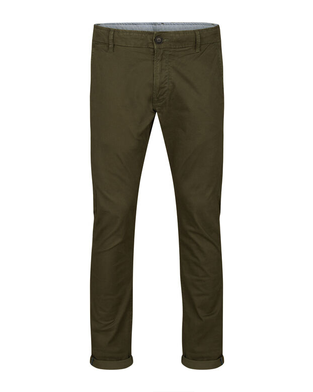 HEREN SLIM TAPERED CHINO Legergroen