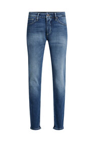 Heren slim fit jeans met comfort stretch_Heren slim fit jeans met comfort stretch, Donkerblauw