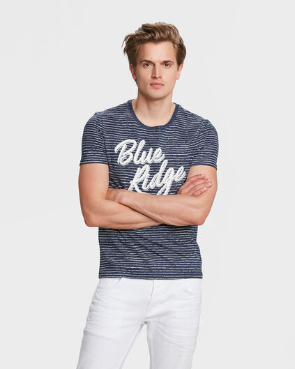 HEREN BLUE RIDGE GESTREEPT T-SHIRT Marineblauw