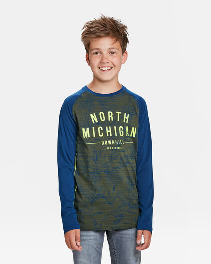 JONGENS MICHIGAN T-SHIRT Legergroen