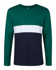 HEREN COLOURBLOCK T-SHIRT_HEREN COLOURBLOCK T-SHIRT, Groen
