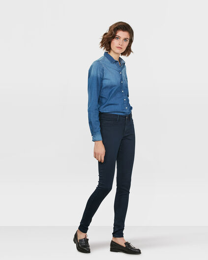 DAMES MID RISE SUPER SKINNY HIGH STRETCH JEGGING Donkerblauw