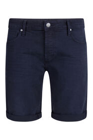 Heren regular fit denim short_Heren regular fit denim short, Marineblauw