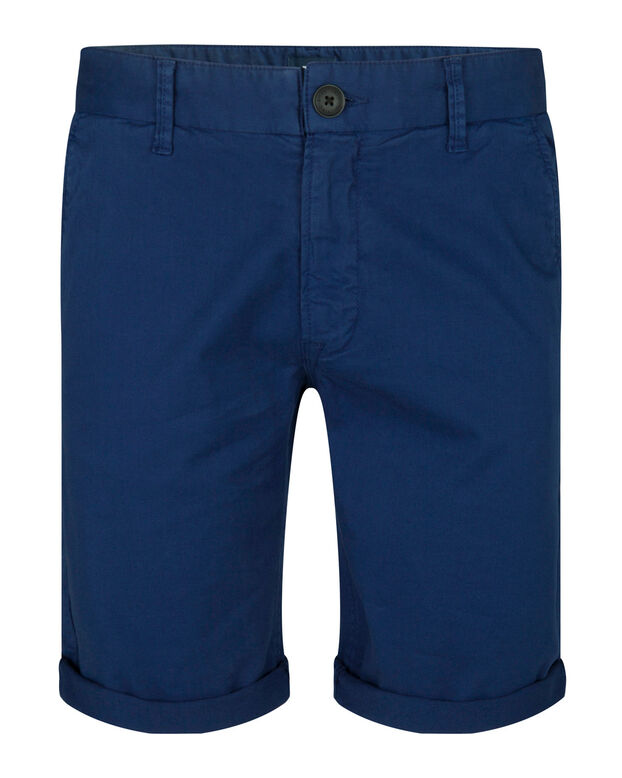 HEREN REGULAR FIT CHINO SHORT Kobaltblauw