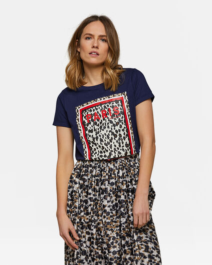 Dames Paris T-shirt Donkerblauw
