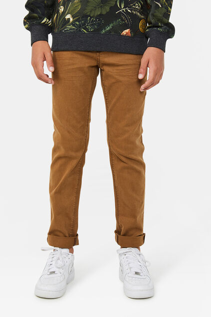 Jongens regular fit denim jeans Roestbruin