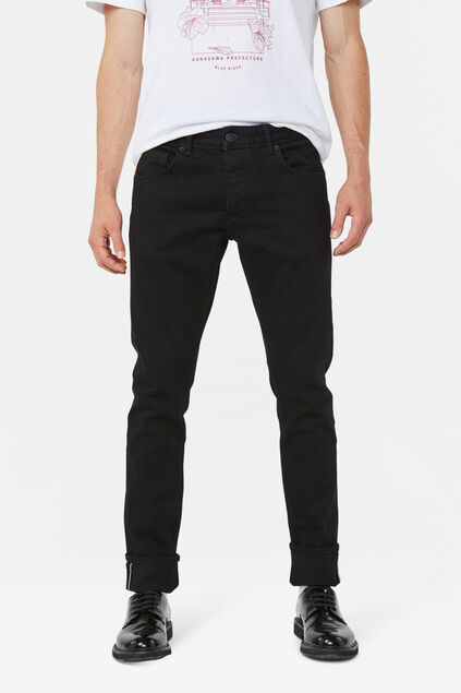 Heren slim tapered jeans Zwart