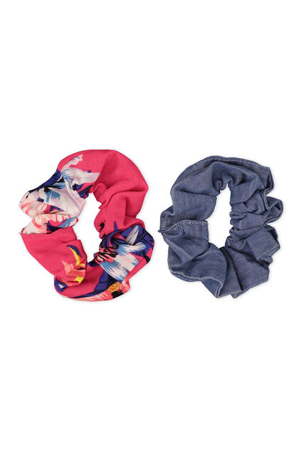 Meisjes scrunchie 2-pack All-over print