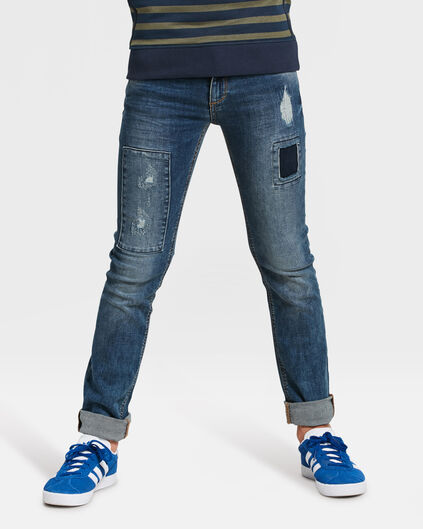 JONGENS SKINNY POWER STRETCH JEANS Blauw
