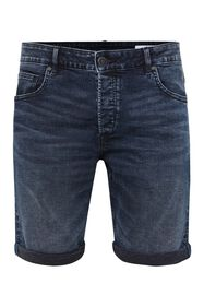 Heren regular fit denimshort_Heren regular fit denimshort, Donkerblauw