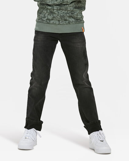 JONGENS REGULAR FIT POWERSTRETCH JEANS Donkergrijs