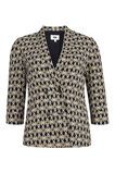 Dames double breasted blazer, Wit