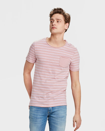HEREN STRIPE T-SHIRT Oudroze