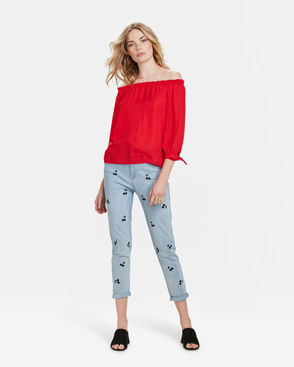 DAMES GIRLFRIEND CHERRY JEANS Lichtblauw