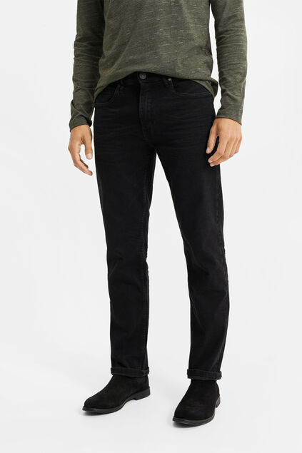 Heren relaxed super stretch jeans Antraciet