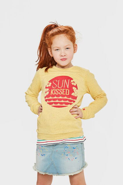 MEISJES SUN KISSED SWEATER Geel