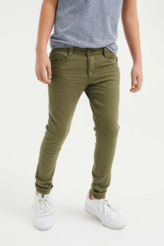 Jongens regular fit broek Legergroen