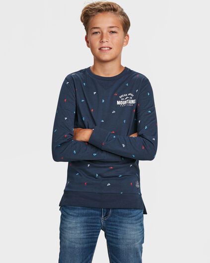 JONGENS MOUNTAIN PRINT T-SHIRT Marineblauw