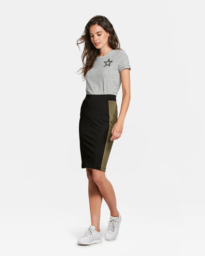 DAMES COLOURBLOCK ROK Zwart