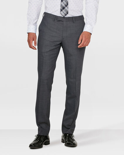 HEREN REGULAR FIT PANTALON BOSTON Donkergrijs
