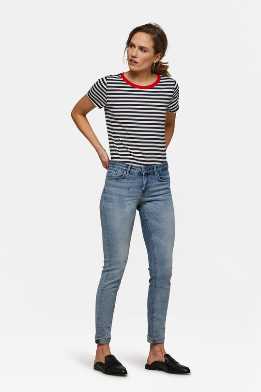 Dames mid rise skinny jeans Blauw