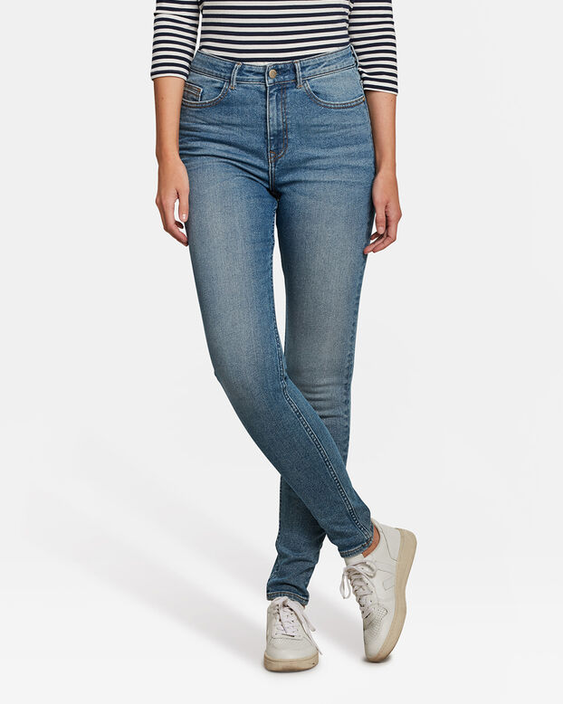 Dames high rise skinny comfort stretch jeans Blauw