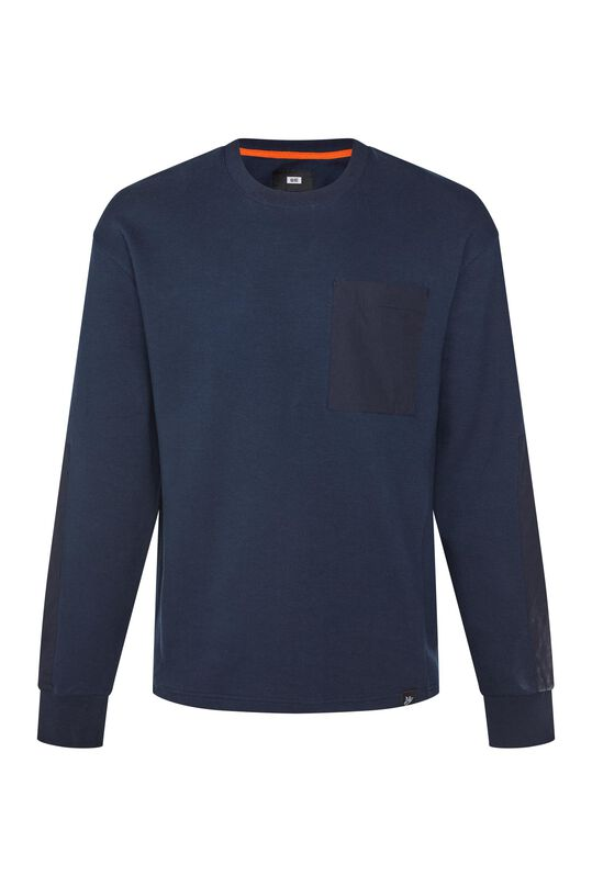 Heren sweater met detail Donkerblauw