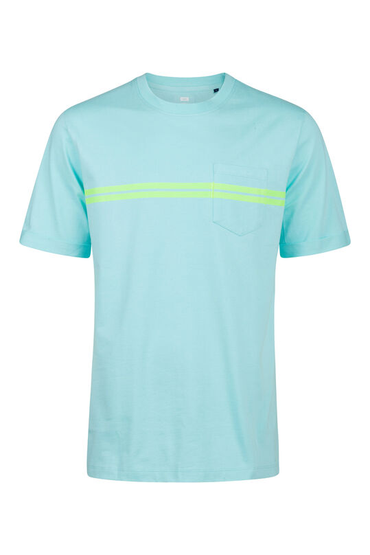 Heren loose fit T-shirt Turkoois