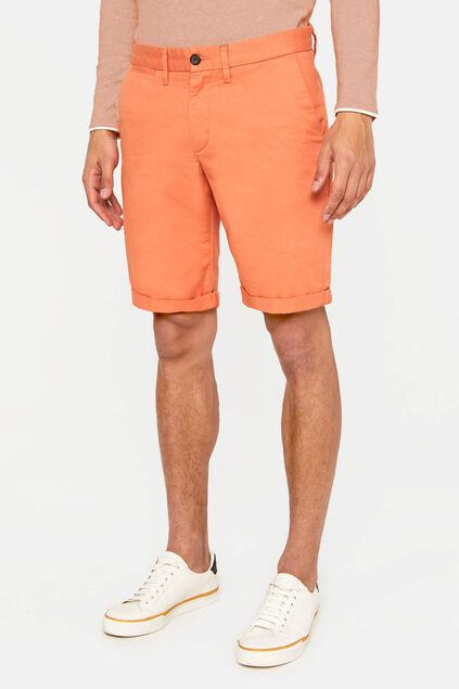 Heren slim fit chinoshort Oranje