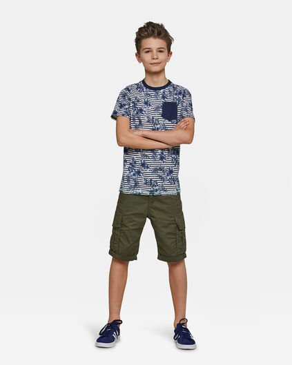 Jongens regular fit short Donkergroen