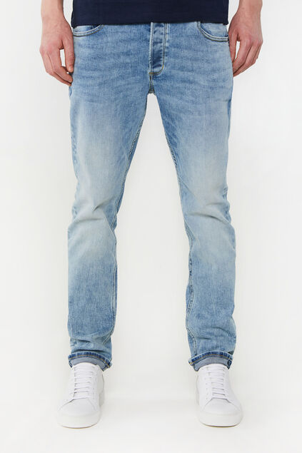 Heren slim fit jog denim jeans Lichtblauw