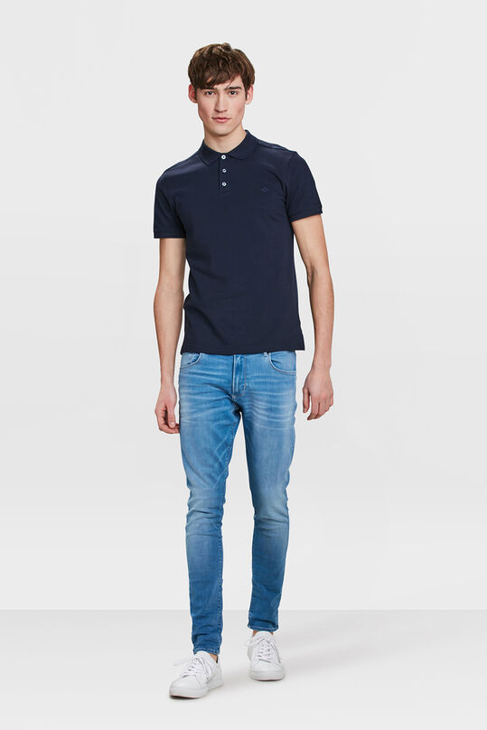 HEREN ORGANIC COTTON PIQUÉ POLO Donkerblauw