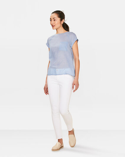 DAMES SKINNY FIT CROPPED JEANS Wit