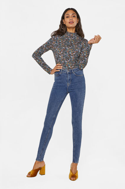 Dames high rise super skinny jeans Blauw