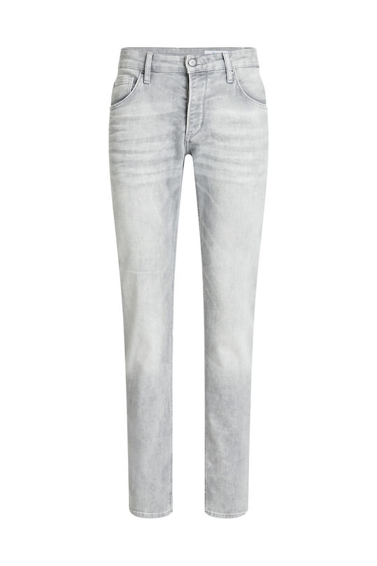 Heren slim fit jeans met stretch Grijs