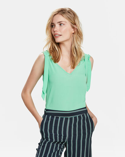 DAMES BOW DETAIL TOP Groen