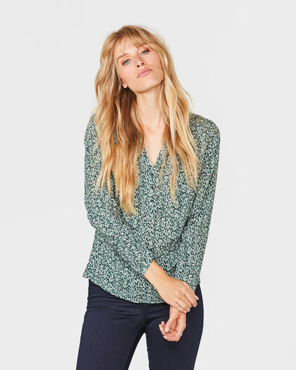 DAMES SINGLE PATCH POCKET BLOUSE Groen