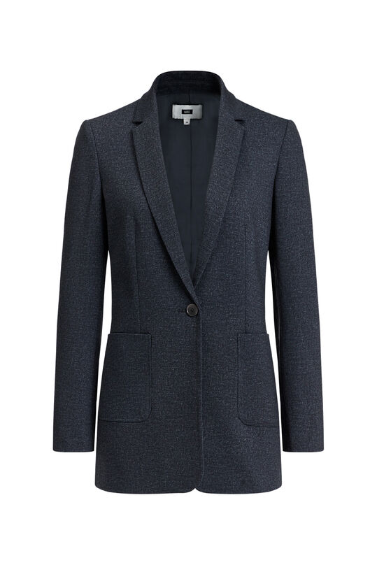Dames regular fit gemêleerde blazer Donkerblauw