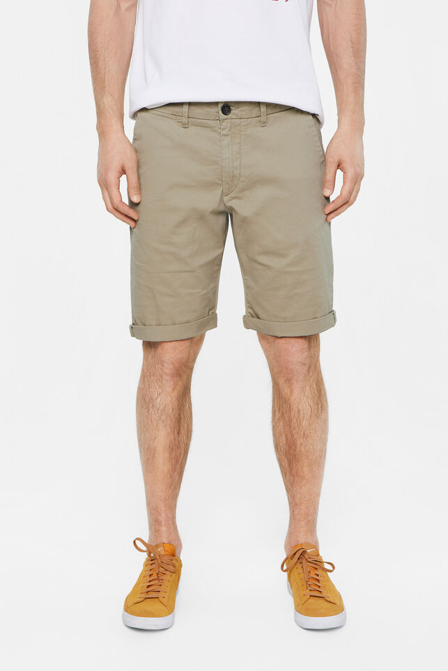 Heren slim fit chinoshort Beige