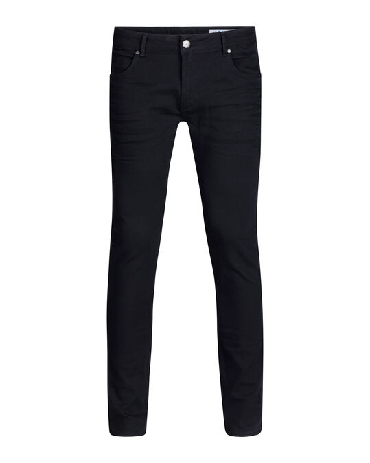 Heren slim fit comfort stretch jeans Zwart