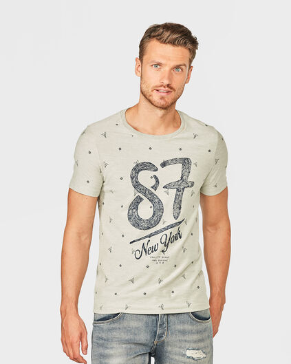 HEREN PRINTED T-SHIRT Grijs