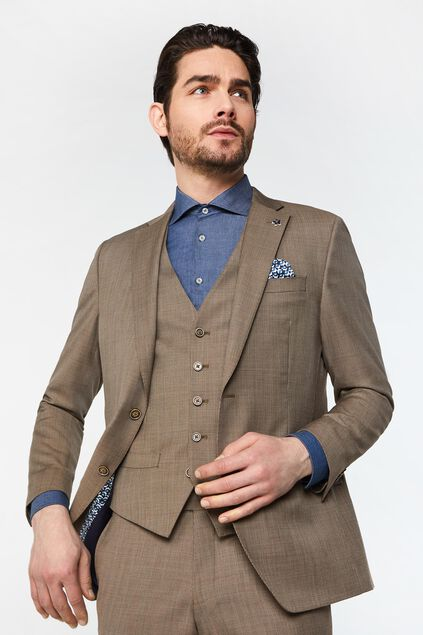 Heren regular fit geruite blazer Alfio All-over print