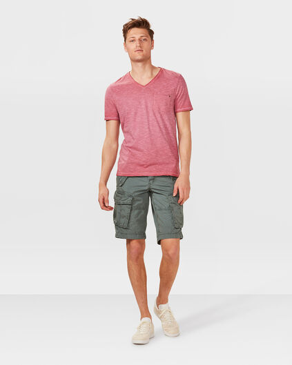 HEREN LOOSE FIT CARGO SHORT Donkergroen