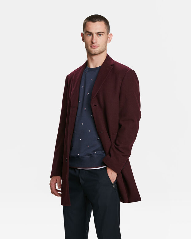 HEREN TOPCOAT Aubergine